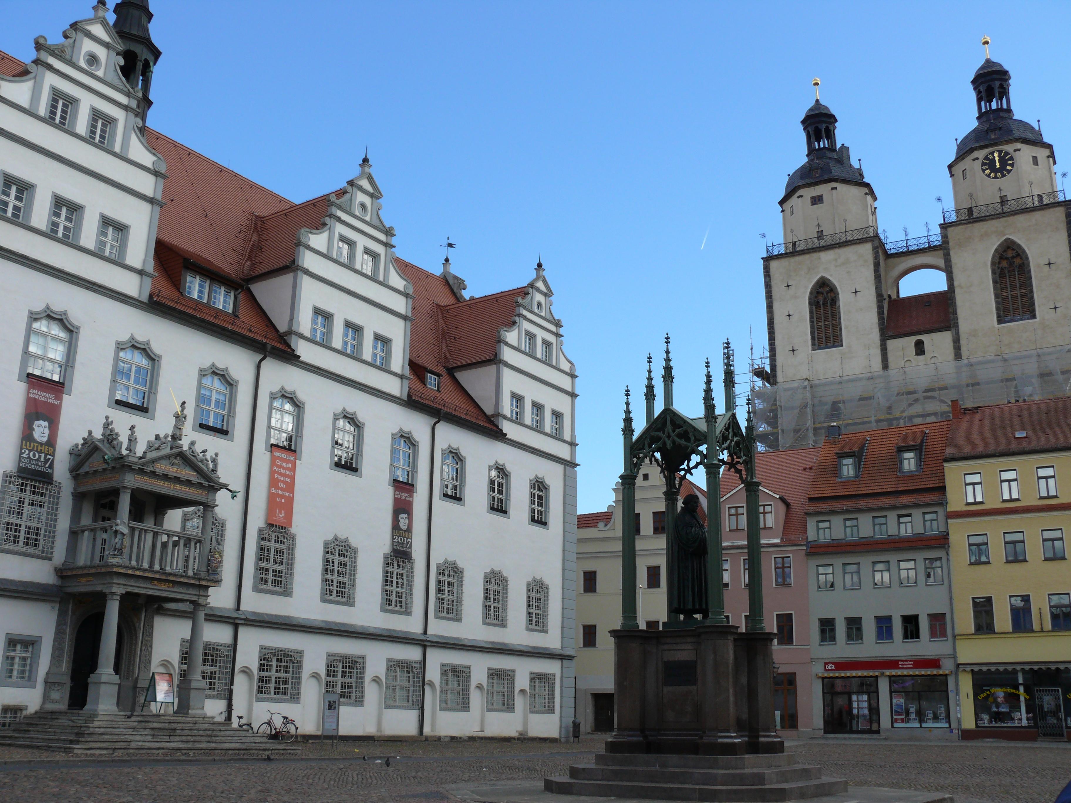 09 Wittenberg - Markt - Luther